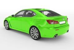 Автомобиль изолированный на бело- зеленой краске, прозрачном стекле - назад-le бесплатная иллюстрация