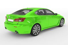 Автомобиль изолированный на бело- зеленой краске, прозрачном стекле - back-ri бесплатная иллюстрация