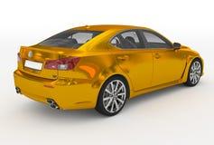Автомобиль изолированный на бело- золотом, прозрачном стекле - назад-правом s иллюстрация вектора