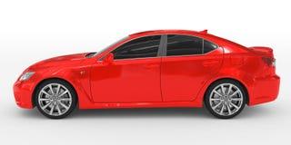 Автомобиль изолированный на бело- красной краске, подкрашиванном стекле - выведенном взгляде со стороны бесплатная иллюстрация