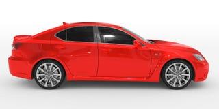 Автомобиль изолированный на бело- красной краске, подкрашиванном стекле - правильная позиция соперничает иллюстрация вектора