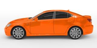 Автомобиль изолированный на бело- оранжевой краске, подкрашиванном стекле - левой стороне v бесплатная иллюстрация