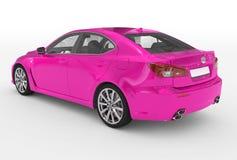 Автомобиль изолированный на бело- пурпурной краске, прозрачном стекле - back-l иллюстрация вектора