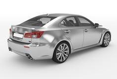 Автомобиль изолированный на бело- серебре, прозрачном стекле - назад-правом s бесплатная иллюстрация