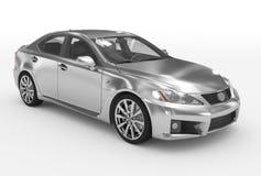 Автомобиль изолированный на бело- серебре, прозрачном стекле - передн-правом бесплатная иллюстрация