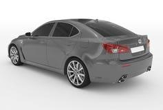 Автомобиль изолированный на бело- серой краске, подкрашиванном стекле - назад-левом sid бесплатная иллюстрация