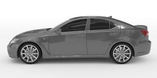 Автомобиль изолированный на бело- серой краске, подкрашиванном стекле - левая сторона соперничает бесплатная иллюстрация