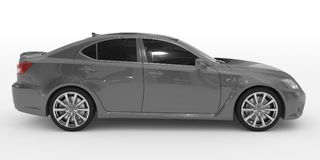 Автомобиль изолированный на бело- серой краске, подкрашиванном стекле - правильной позиции VI бесплатная иллюстрация