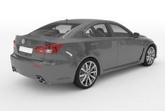 Автомобиль изолированный на бело- серой краске, прозрачном стекле - назад-снаряжении иллюстрация вектора