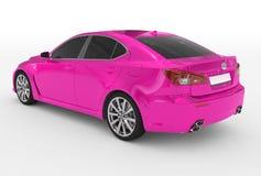 Автомобиль изолированный на бело- фиолетовой краске, подкрашиванном стекле - назад-левом s бесплатная иллюстрация