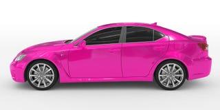 Автомобиль изолированный на бело- фиолетовой краске, подкрашиванном стекле - левой стороне v иллюстрация вектора