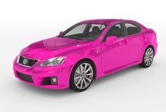 Автомобиль изолированный на бело- фиолетовой краске, прозрачном стекле - фронте бесплатная иллюстрация