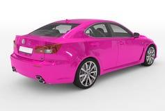 Автомобиль изолированный на бело- фиолетовой краске, прозрачном стекле - back-r иллюстрация вектора