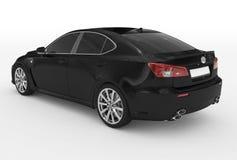 Автомобиль изолированный на бело- черной краске, подкрашиванном стекле - назад-левом si бесплатная иллюстрация