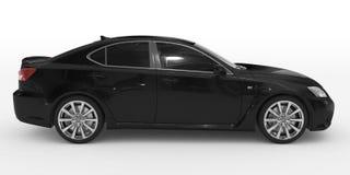 Автомобиль изолированный на бело- черной краске, подкрашиванном стекле - правильной позиции v иллюстрация вектора