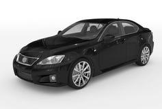 Автомобиль изолированный на бело- черной краске, прозрачном стекле - переднем-l бесплатная иллюстрация