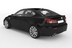 Автомобиль изолированный на бело- черной краске, прозрачном стекле - назад-le бесплатная иллюстрация