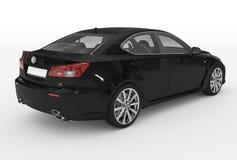 Автомобиль изолированный на бело- черной краске, прозрачном стекле - back-ri иллюстрация вектора