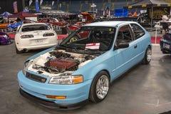Автомобиль импорта без клобука Стоковое фото RF