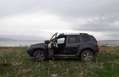Автомобиль и шестерня фотографа живой природы Стоковое Изображение