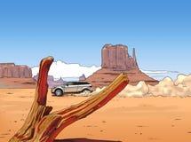 автомобиль каньона Стоковое фото RF