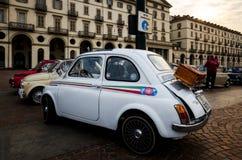 Автомобиль классики Фиат 500 в Турине Стоковое Изображение RF