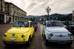 Автомобиль классики Фиат 500 в Турине Стоковое Фото
