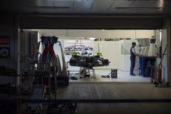 Автомобиль команды Williams в коробках стоковая фотография