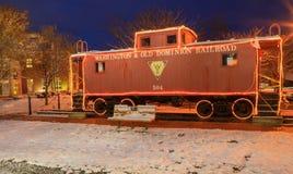 Автомобиль красного камбуза Herndon Вирджинии железнодорожный стоковая фотография rf