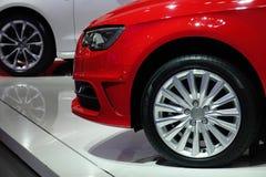 Автомобиль красного цвета Audi стоковые изображения