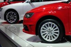 Автомобиль красного цвета Audi стоковые фотографии rf