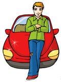 автомобиль мальчика Стоковое Изображение RF