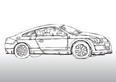 Автомобиль нарисованный рукой Стоковые Изображения RF