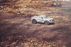 Автомобиль на моделях дороги контролируемых радио в природе, хобби и отдыхе Стоковая Фотография
