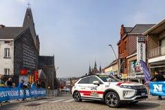 Автомобиль ОАЭ объединяется в команду эмираты - путешествие Фландрии 2019 стоковое фото rf