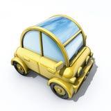 автомобиль обшивает панелями солнечное Стоковое Фото