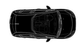 Автомобиль от вектора взгляда сверху Плоский автомобиль дизайна стоковые фотографии rf