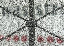 автомобиль падает вода мытья Стоковое Изображение RF