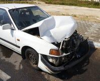 автомобиль повредил Стоковые Изображения