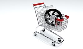 Автомобиль покупок и мотоцилк, 3d Стоковые Изображения