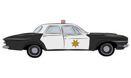 Автомобиль полиции ретро Стоковое Фото