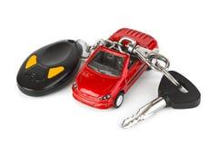 автомобиль пользуется ключом игрушка Стоковые Изображения