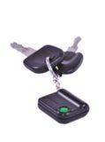 автомобиль пользуется ключом remote Стоковое Фото