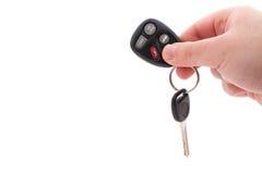 автомобиль пользуется ключом remote Стоковое Изображение RF