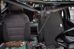 Автомобиль после аварии Стоковые Фотографии RF