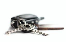 автомобиль предпосылки пользуется ключом белизна s Стоковое Фото