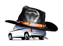 Автомобиль принципиальной схемы Стоковое Изображение