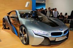 Автомобиль принципиальной схемы BMW i8 Стоковое фото RF