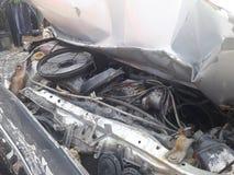 Автомобиль разбил в аварию Стоковая Фотография
