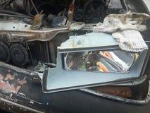 Автомобиль разбил в аварию Стоковые Изображения RF